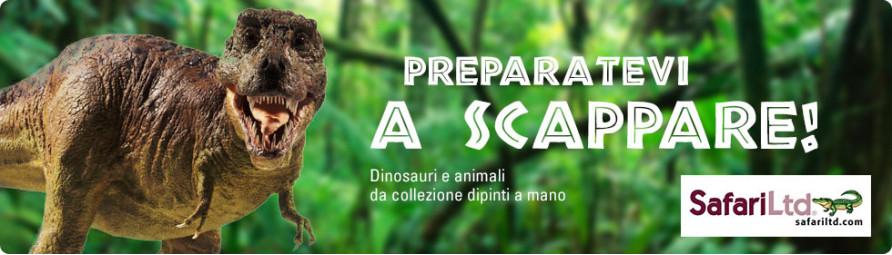 Dinosauri e animali da collezione dipinti a mano