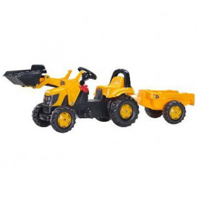 023 837 RollyKid JCB excavator with trailer and Rolly Toys