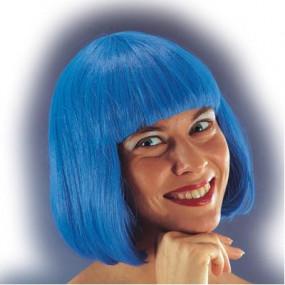 """Parrucca """"Pin up"""" blu in busta"""
