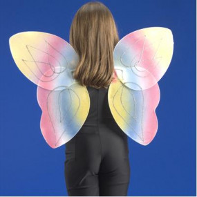 Ali farfalla multicolor h.cm.44 in busta c/cav.