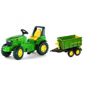 Trattore a pedali John Deere 7930+Rimorchio rollyContainer JD
