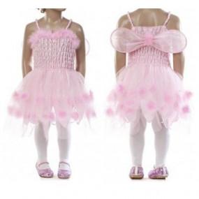 Vestito rosa con tulle tg. 6 anni