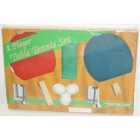 Set Ping Pong con racchette rete e 3 palline