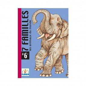 Carte 7 familles animali del mondo Djeco