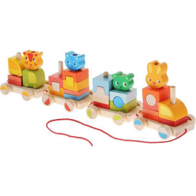 Trenino in legno Crearoule Djeco