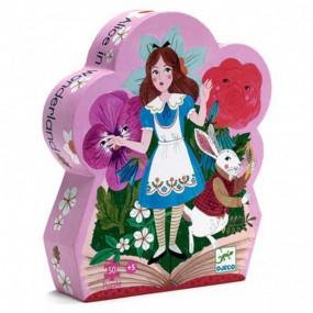 Alice nel paese delle meraviglie silhouette puzzle
