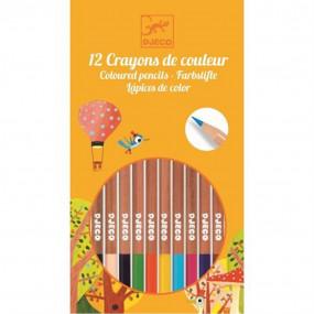 12 matite colorate Djeco