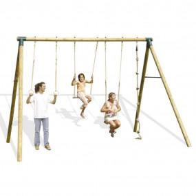 Altalena in legno Passiflora per adulti e bambini