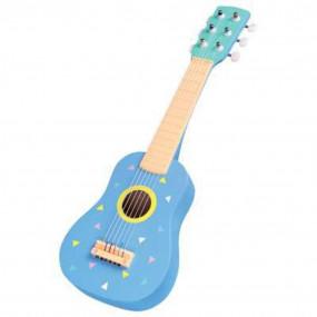 Chitarra in legno azzurra