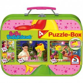 Bibi valigetta metallo con puzzle