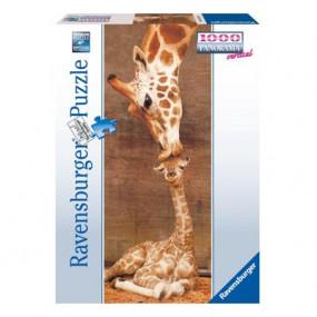 Giraffe - Il primo bacio Panorama verticale 1000 pezzi
