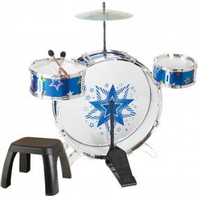 Batteria musicale con sgabello