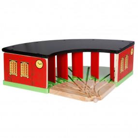 Incrocio per trenini in legno