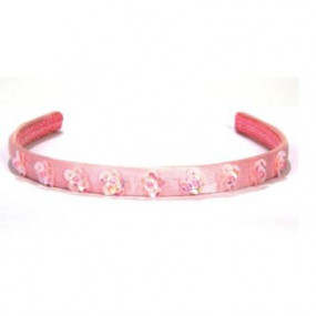 Cerchiello rosa con paillettes a fiore