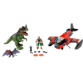 Aereo idrovolante con dinosauro