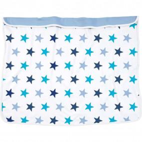 Dooky copertina bianco azzurro 70x85cm