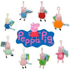 Peppa Pig Portachiavi Peluche 10 cm. assortiti
