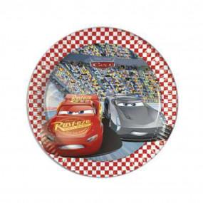 8 piatti carta Cars 3