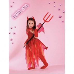 Costume Devil Girl tg. 5/6 anni