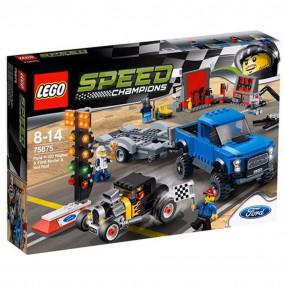 75875 Lego Speed Champions Ford F-150 Raptor e Hot Rod Ford ModA