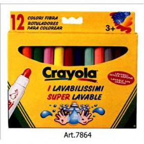 12 pennarelli fibra i lavabilissimi