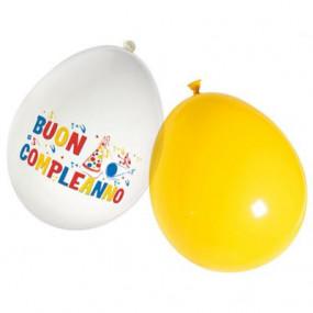 16 Palloncini Buon compleanno assortiti