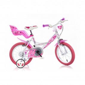 "Bicicletta 14"" Little Heart girl Dino Bikes 144RN-05LH"