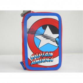 Astuccio corredo 3 zip Capitan America