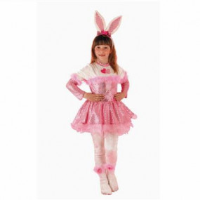 Costume Pink bunny 3/4 anni