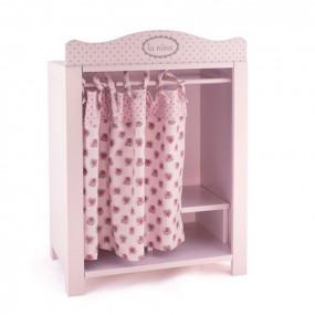 Armadio grande in legno rosa per bambole Diset
