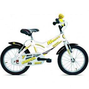 Bicicletta Duffy bianco/giallo bimbo 675 MTB16