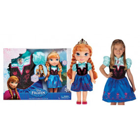 Bambola Anna Frozen con abito per bimba