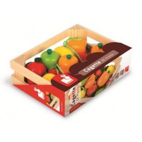 12 frutti in legno colorato Janod