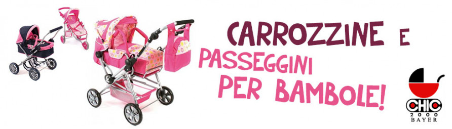 Carrozzine e passeggini per bambole