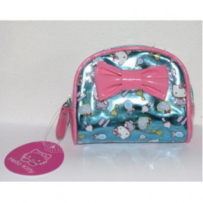Bustina trucco Pink Blue Hello Kitty