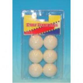Blister 6 palline da Ping Pong bianche