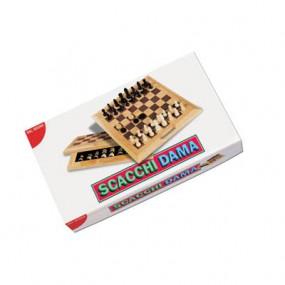 Scacchi - Dama pieghevole in legno Dal Negro