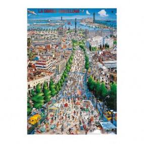 Barcellona - La rambla 1000 pezzi Diset