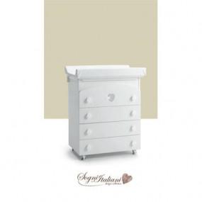 Bagnetto fasciatoio Teo colore bianco in legno